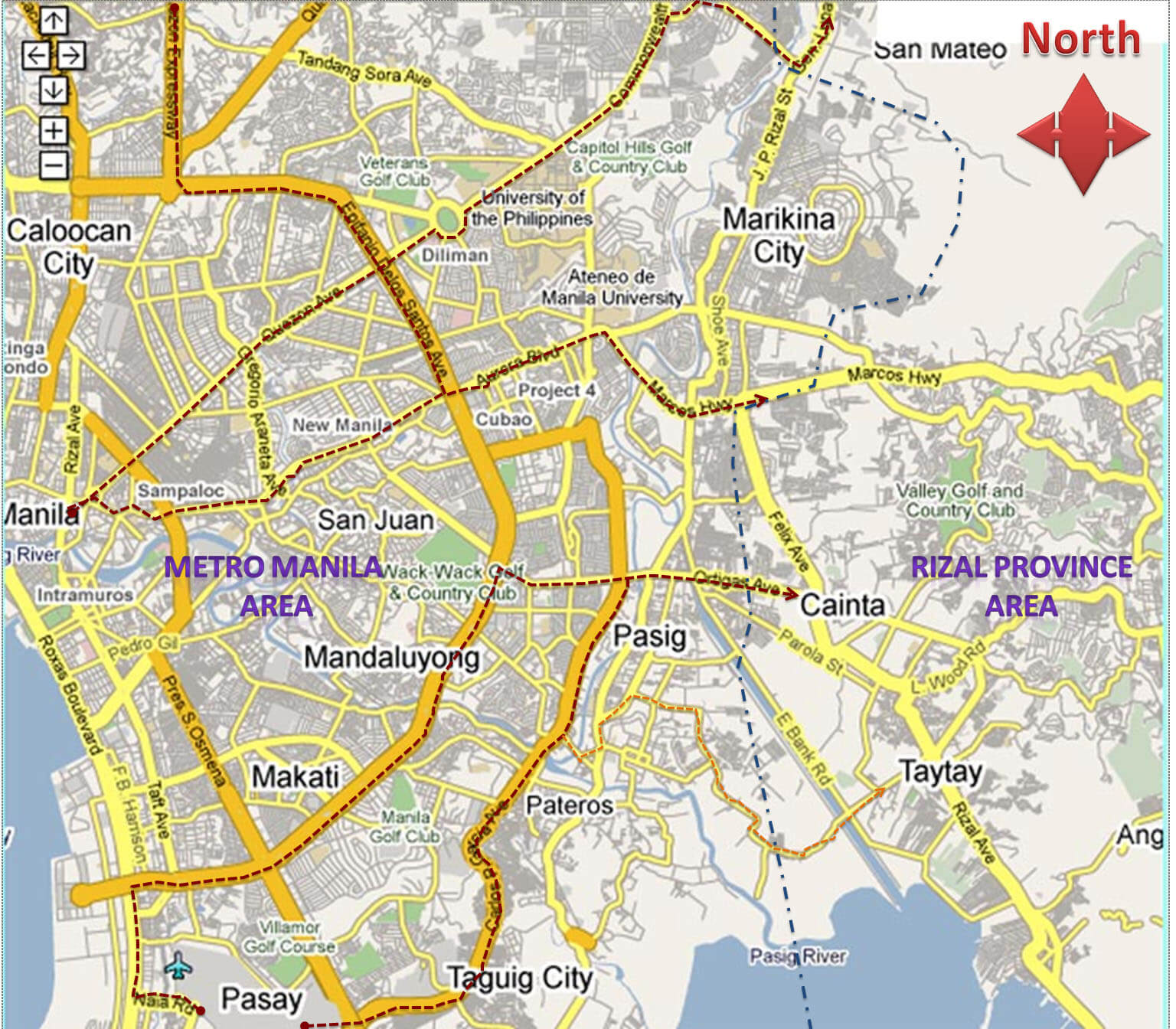 Rizal Philippines Map.Rizal Provincial Government Official Website